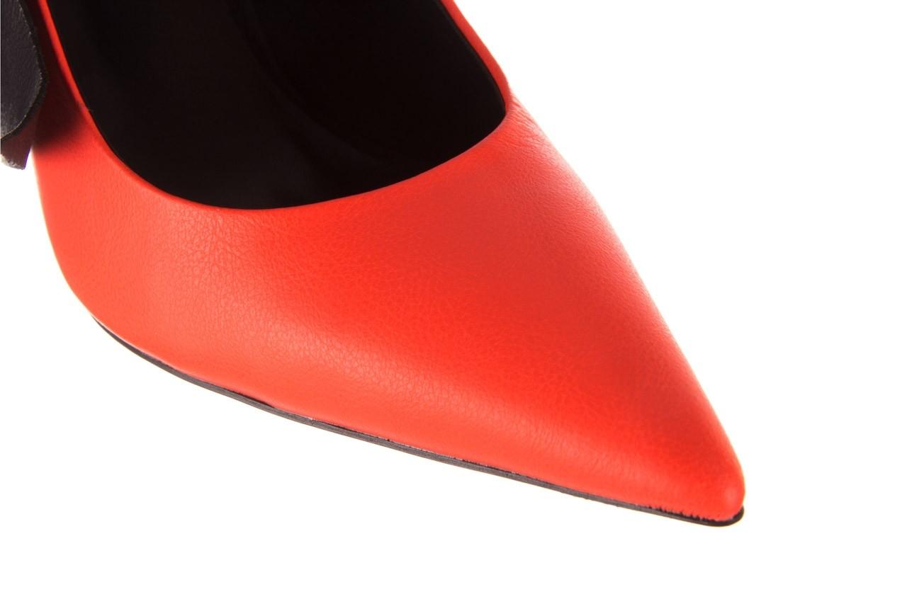 Czółenka sca'viola e-44 orange, pomarańczowy/ czarny, skóra naturalna - na słupku - czółenka - buty damskie - kobieta 17