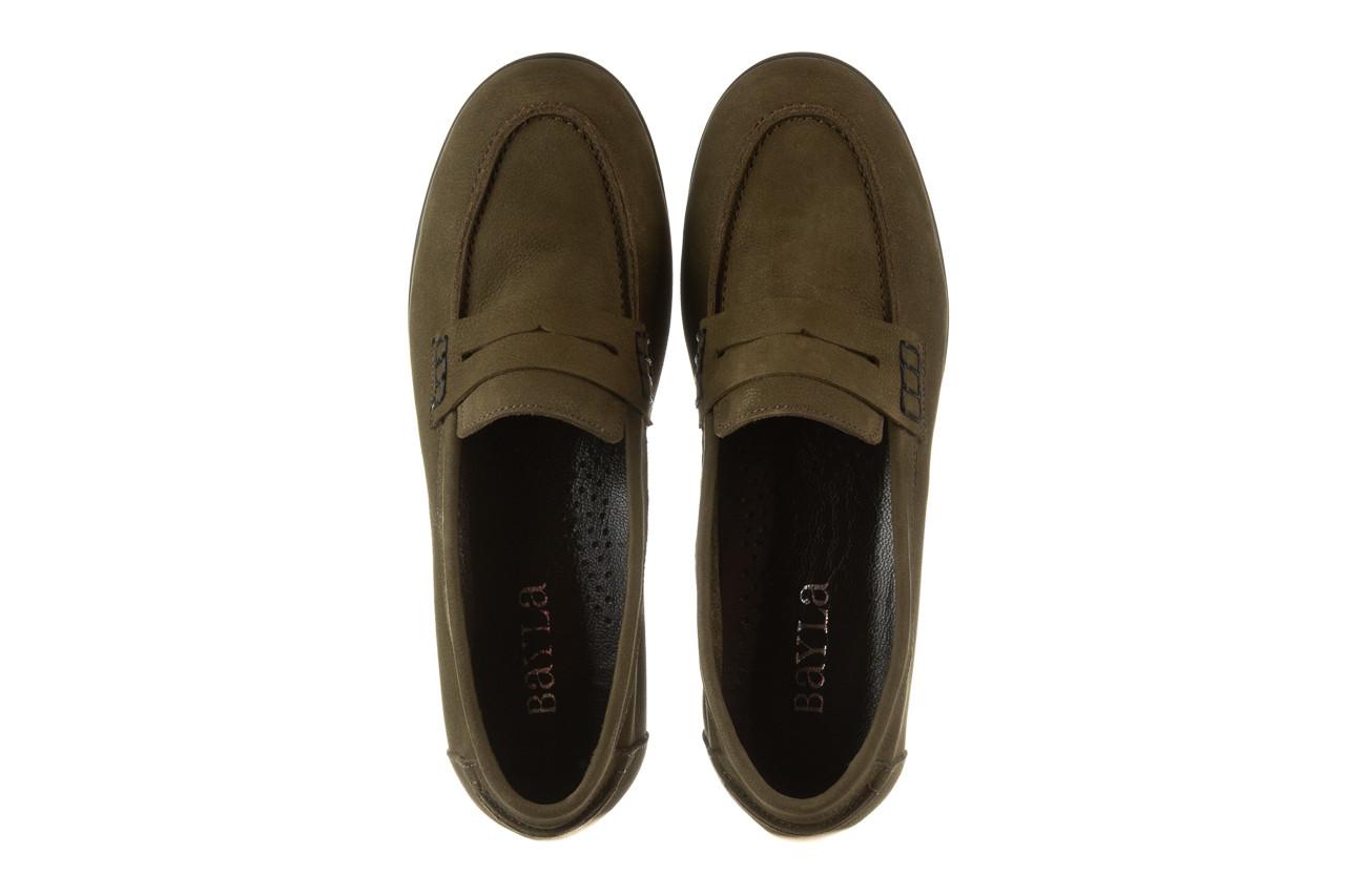 Półbuty bayla-196 168201 d87 196013, zielony, skóra naturalna  - zamszowe - półbuty - buty damskie - kobieta 14