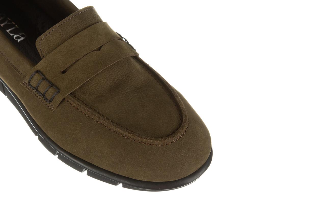 Półbuty bayla-196 168201 d87 196013, zielony, skóra naturalna  - zamszowe - półbuty - buty damskie - kobieta 15