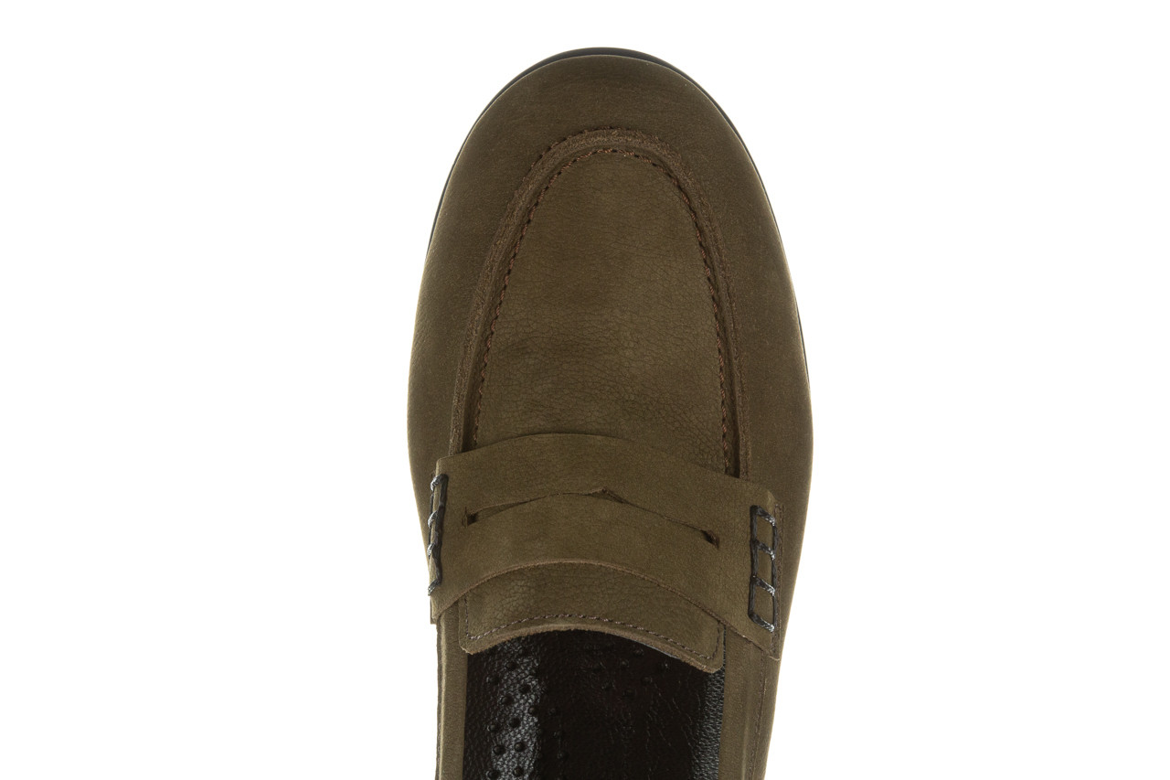 Półbuty bayla-196 168201 d87 196013, zielony, skóra naturalna  - zamszowe - półbuty - buty damskie - kobieta 16