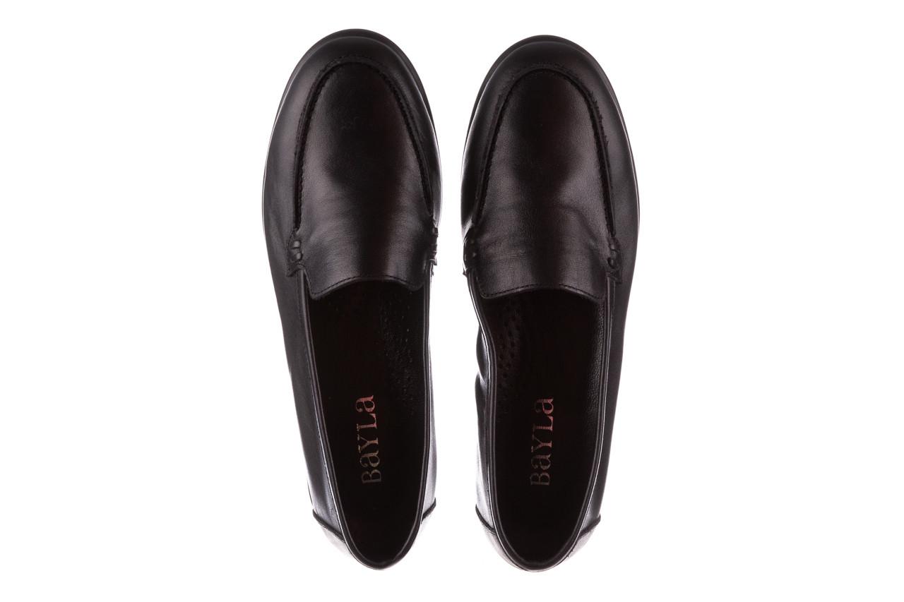Półbuty bayla-196 168504 d44 196015, czarny, skóra naturalna  - skórzane - półbuty - buty damskie - kobieta 14