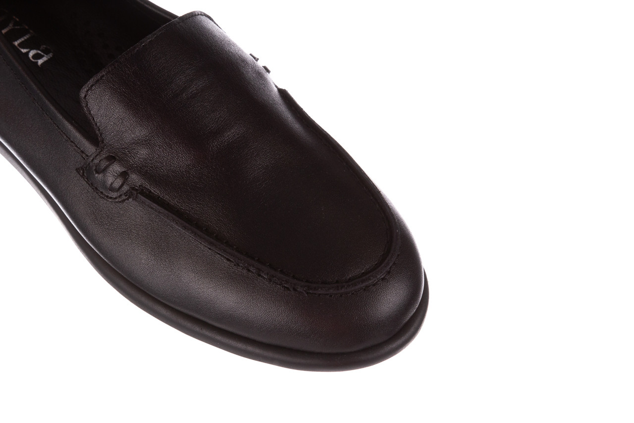Półbuty bayla-196 168504 d44 196015, czarny, skóra naturalna  - skórzane - półbuty - buty damskie - kobieta 15