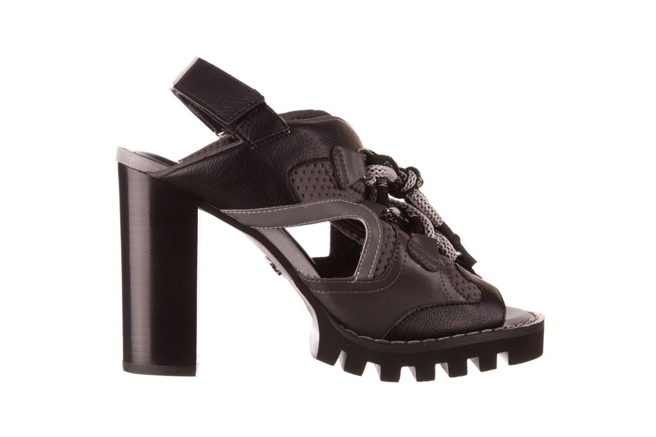 Sandały sca'viola e-34 d. grey-black, szary/ czarny, skóra naturalna  - na obcasie - sandały - buty damskie - kobieta 9