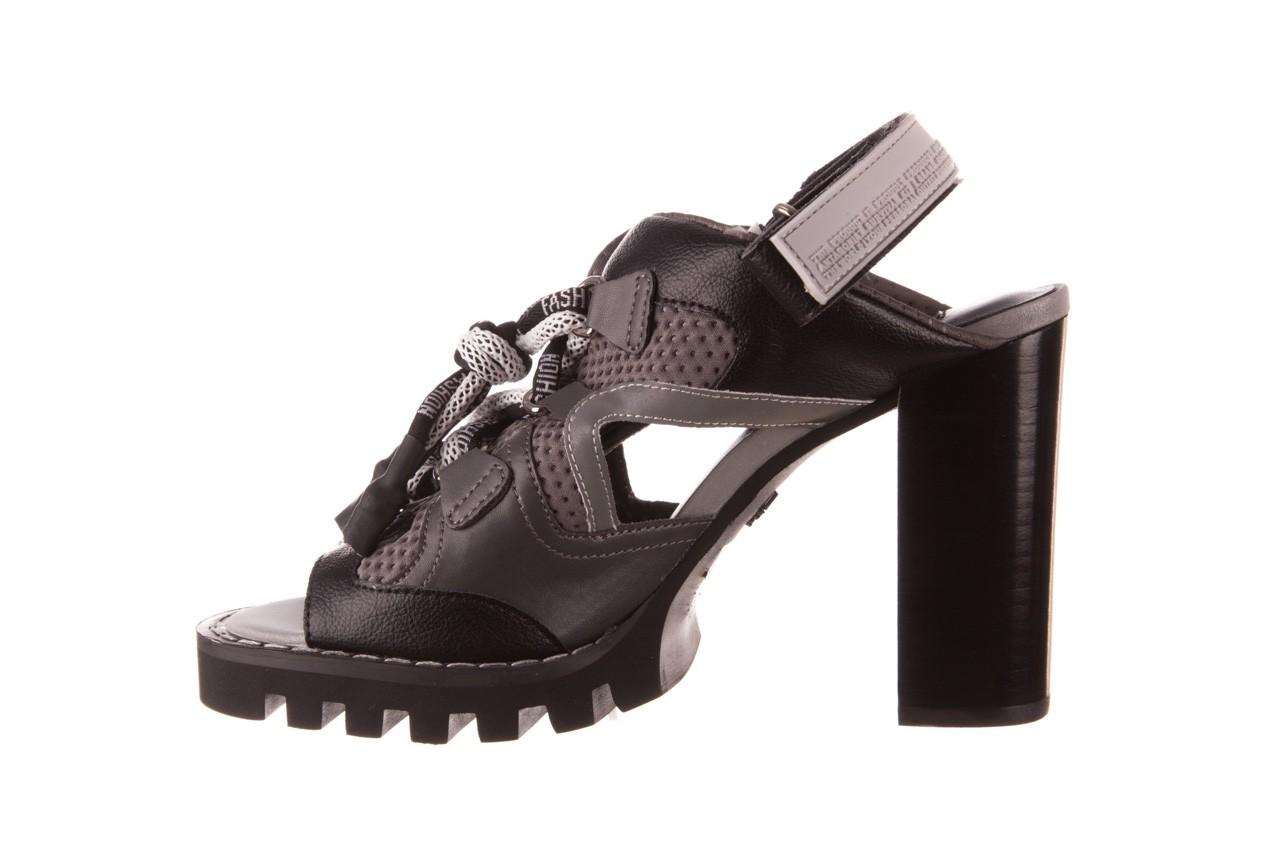Sandały sca'viola e-34 d. grey-black, szary/ czarny, skóra naturalna  - na obcasie - sandały - buty damskie - kobieta 11