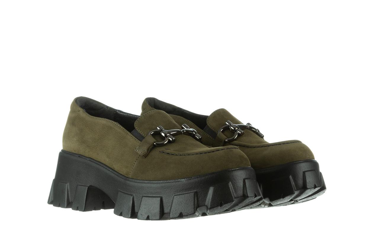 Półbuty bayla-196 20ef126-06 d87 196022, zielony, skóra naturalna  - półbuty - buty damskie - kobieta 11