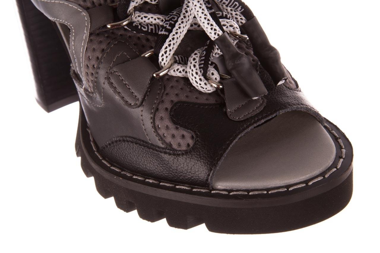Sandały sca'viola e-34 d. grey-black, szary/ czarny, skóra naturalna  - na obcasie - sandały - buty damskie - kobieta 14