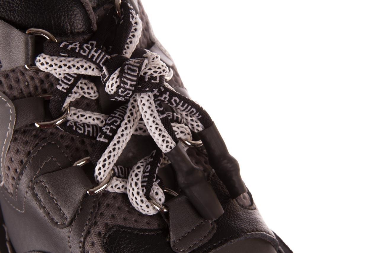 Sandały sca'viola e-34 d. grey-black, szary/ czarny, skóra naturalna  - na obcasie - sandały - buty damskie - kobieta 15