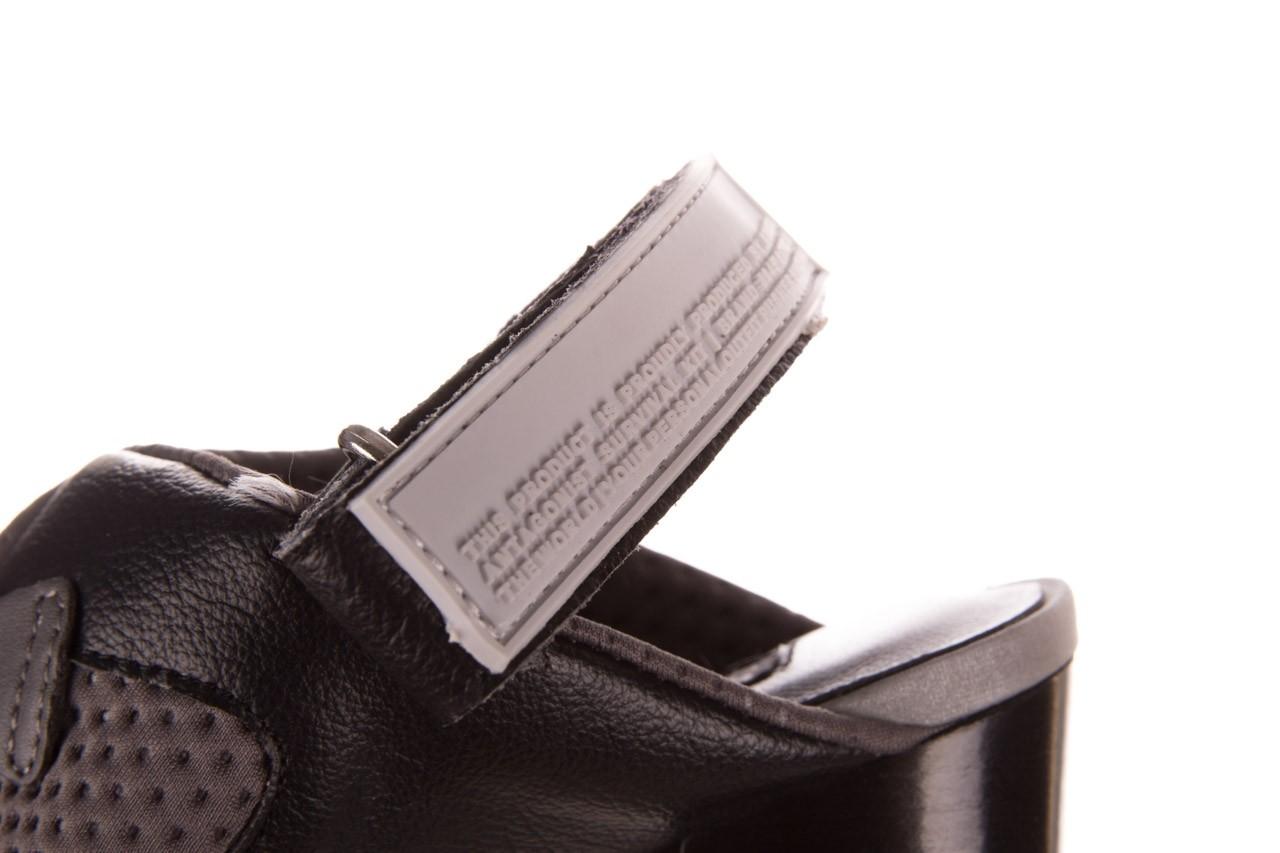 Sandały sca'viola e-34 d. grey-black, szary/ czarny, skóra naturalna  - na obcasie - sandały - buty damskie - kobieta 16