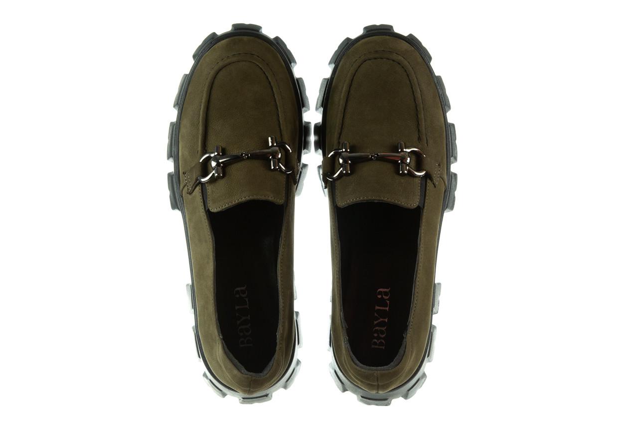 Półbuty bayla-196 20ef126-06 d87 196022, zielony, skóra naturalna  - półbuty - buty damskie - kobieta 15