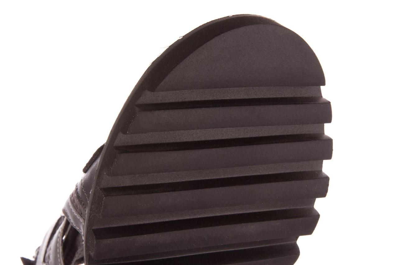 Sandały sca'viola e-34 d. grey-black, szary/ czarny, skóra naturalna  - na obcasie - sandały - buty damskie - kobieta 17