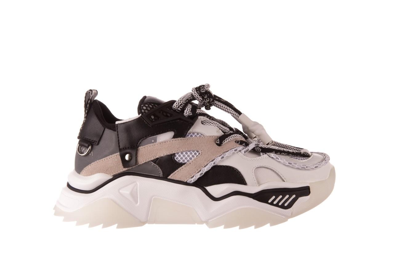 Sneakersy sca'viola e-39 white-black, biały/ czarny, skóra naturalna  - obuwie sportowe - dla niej  - sale 9