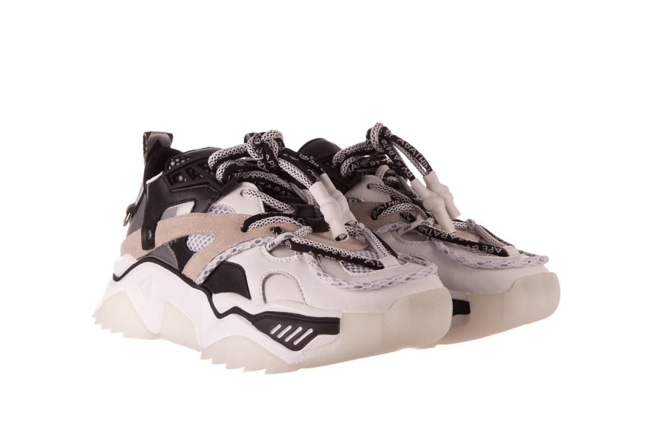 Sneakersy sca'viola e-39 white-black, biały/ czarny, skóra naturalna  - obuwie sportowe - dla niej  - sale 10