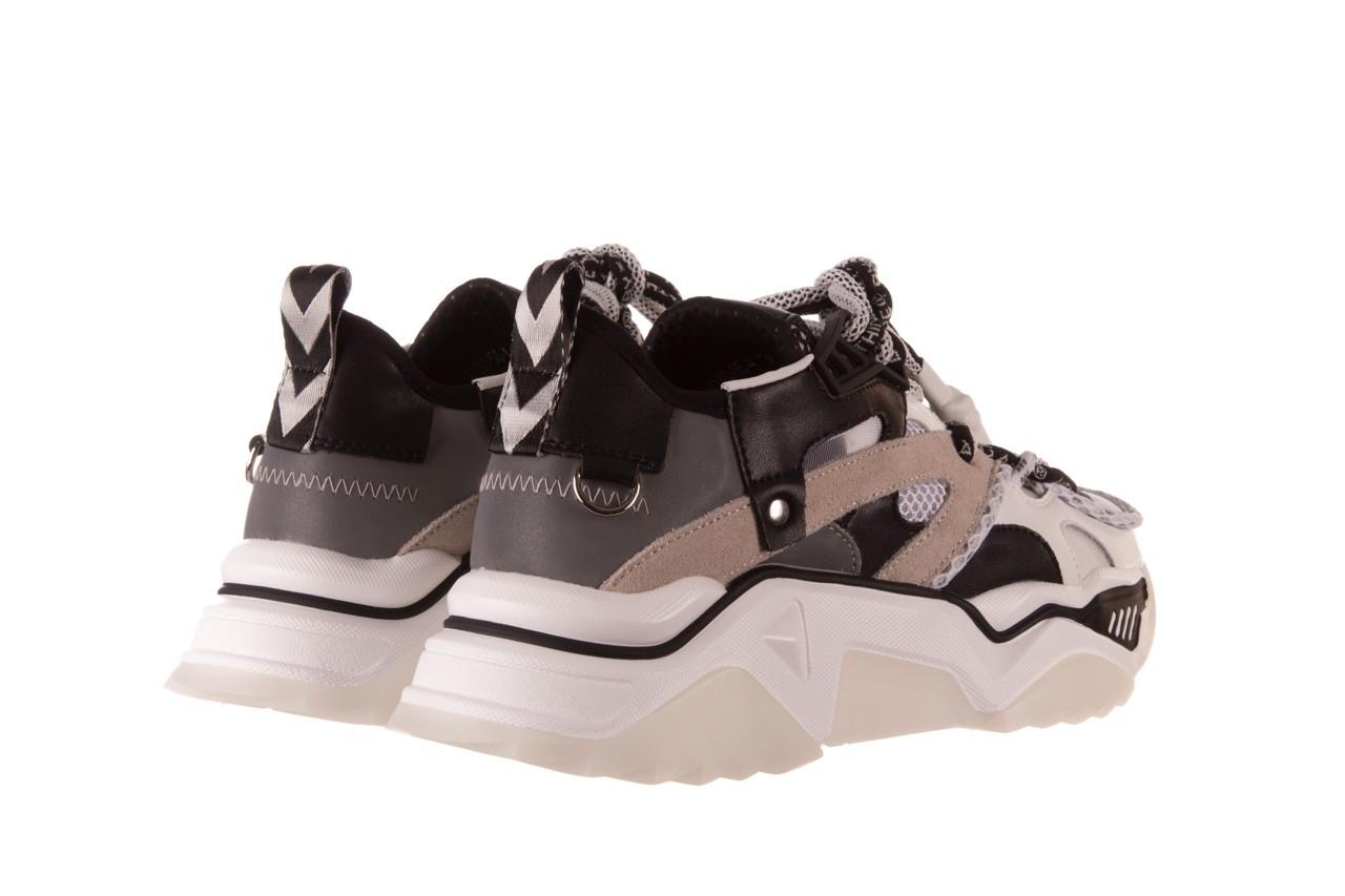 Sneakersy sca'viola e-39 white-black, biały/ czarny, skóra naturalna  - obuwie sportowe - dla niej  - sale 12