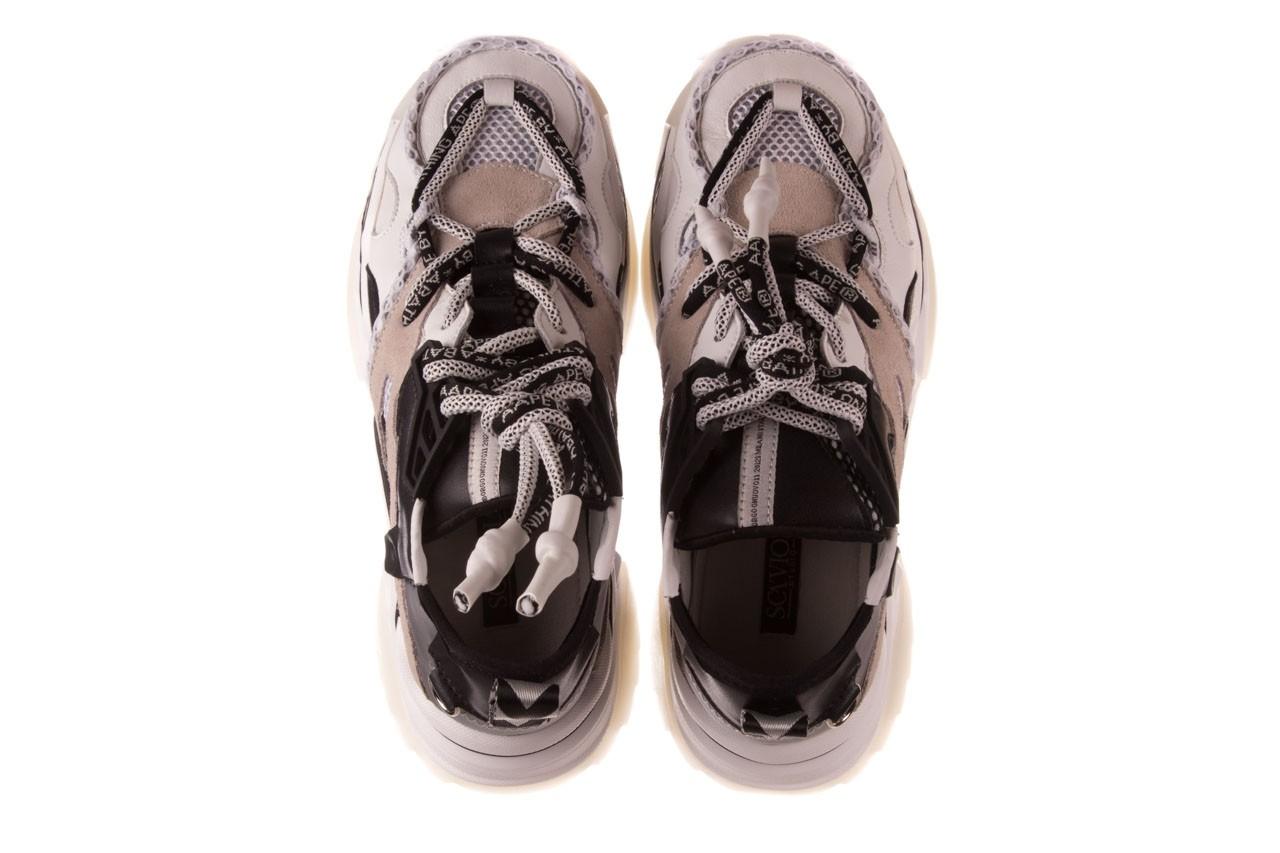 Sneakersy sca'viola e-39 white-black, biały/ czarny, skóra naturalna  - obuwie sportowe - dla niej  - sale 13