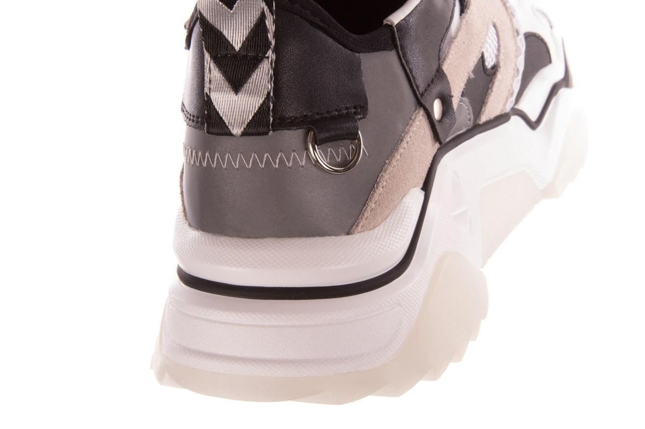 Sneakersy sca'viola e-39 white-black, biały/ czarny, skóra naturalna  - obuwie sportowe - dla niej  - sale 16