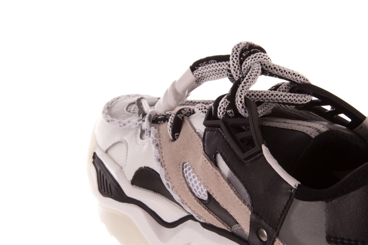 Sneakersy sca'viola e-39 white-black, biały/ czarny, skóra naturalna  - obuwie sportowe - dla niej  - sale 17