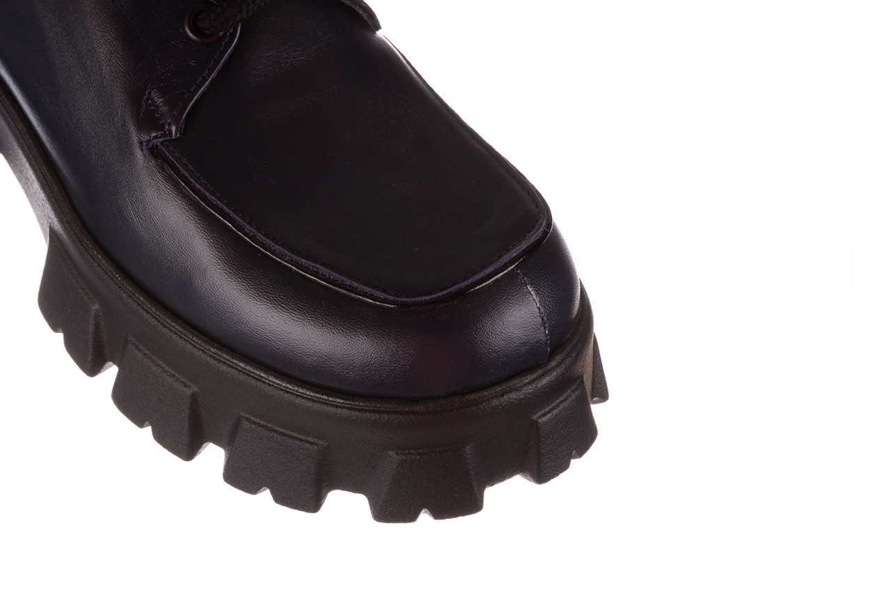 Półbuty bayla-196 20ef126-10 d57 laci-kr24 196023, granat, skóra naturalna  - sznurowane - półbuty - buty damskie - kobieta 16