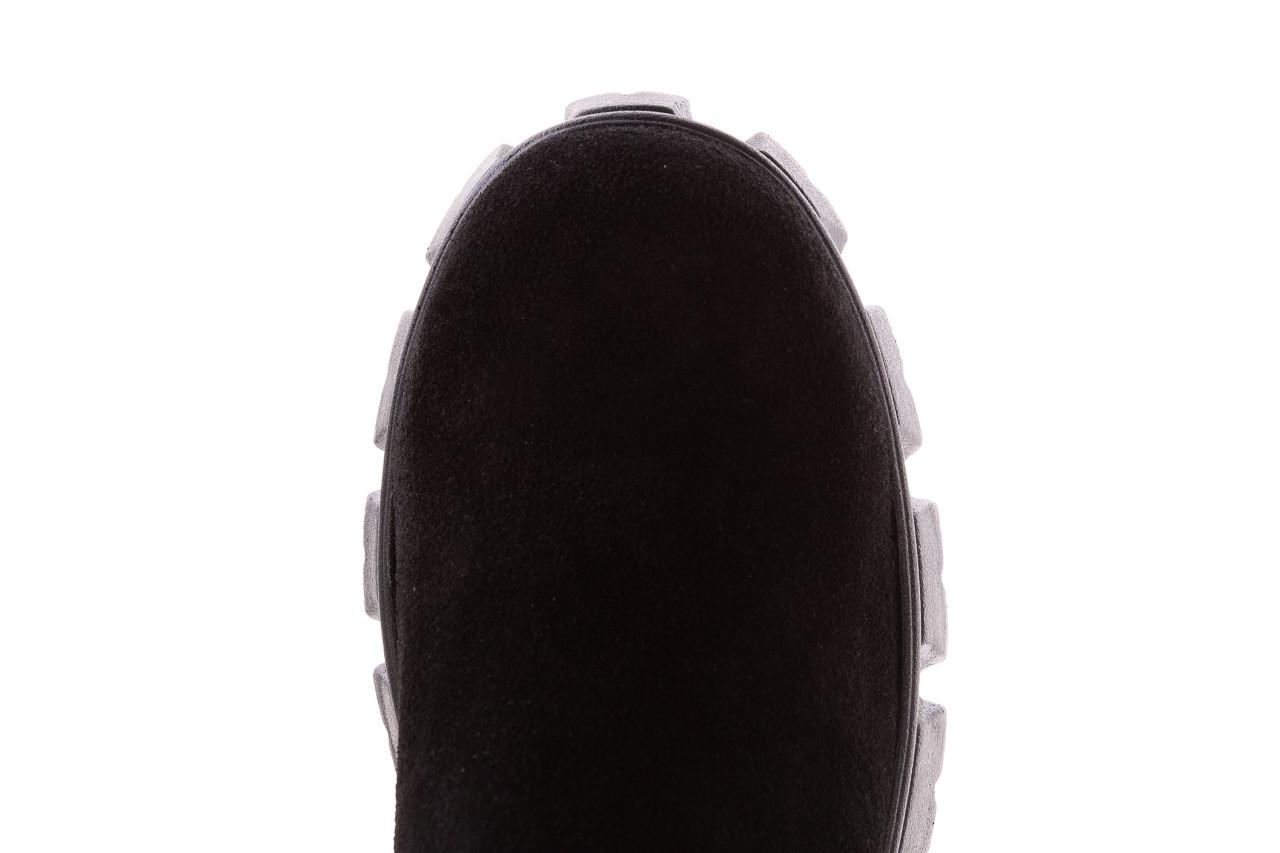 Botki bayla-196 20ef126-01 y16 196016, czarny, skóra naturalna  - kobieta 17