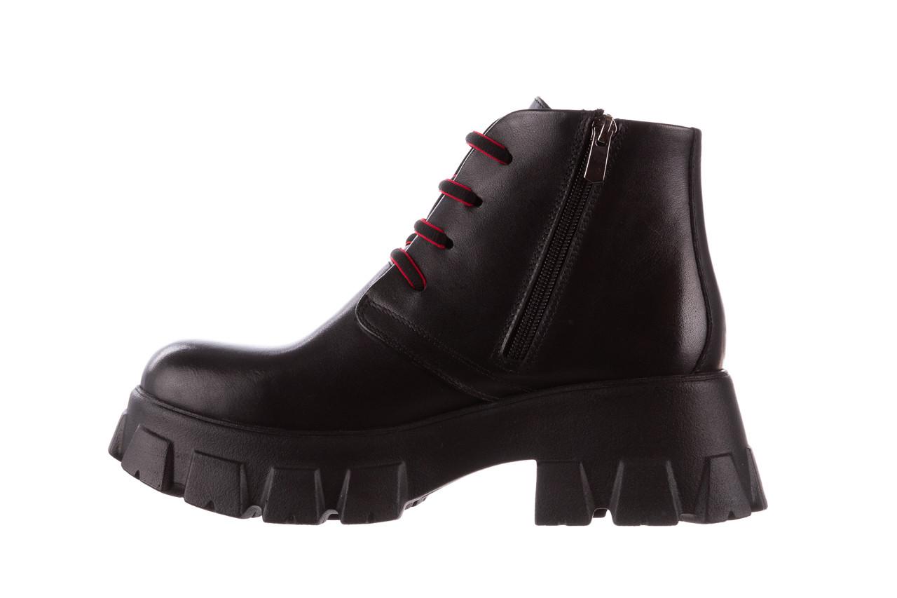 Botki bayla-196 20ef126-02 d44 196018, czarny, skóra naturalna  - botki - buty damskie - kobieta 14