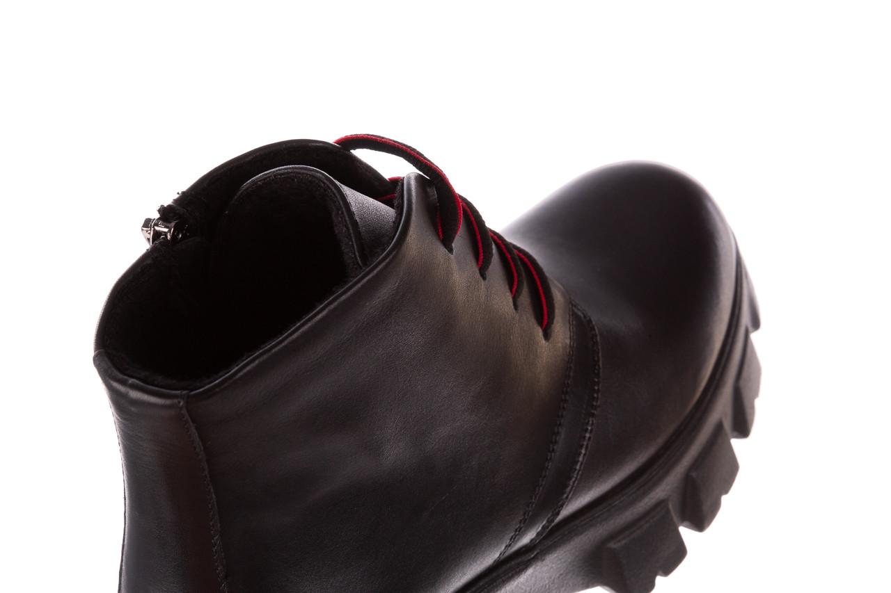 Botki bayla-196 20ef126-02 d44 196018, czarny, skóra naturalna  - botki - buty damskie - kobieta 19