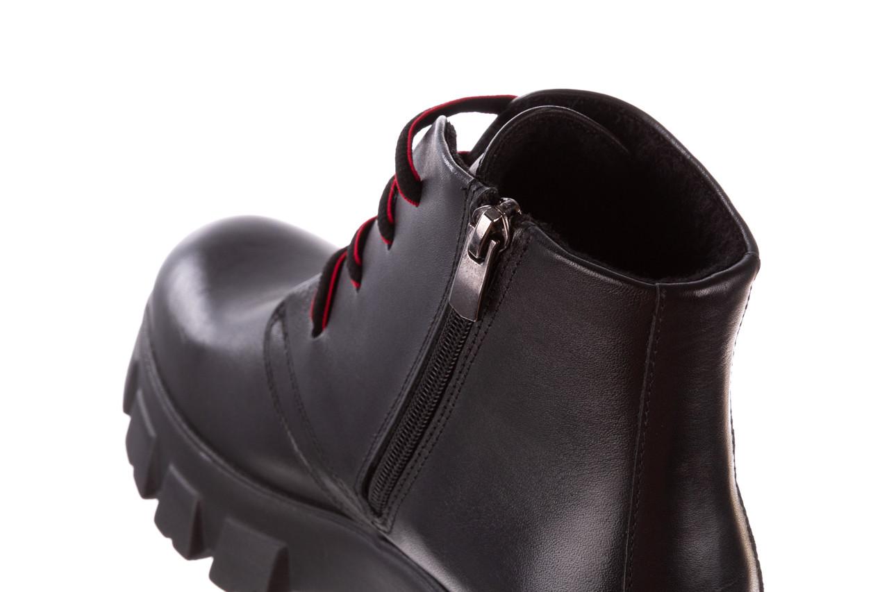 Botki bayla-196 20ef126-02 d44 196018, czarny, skóra naturalna  - botki - buty damskie - kobieta 21