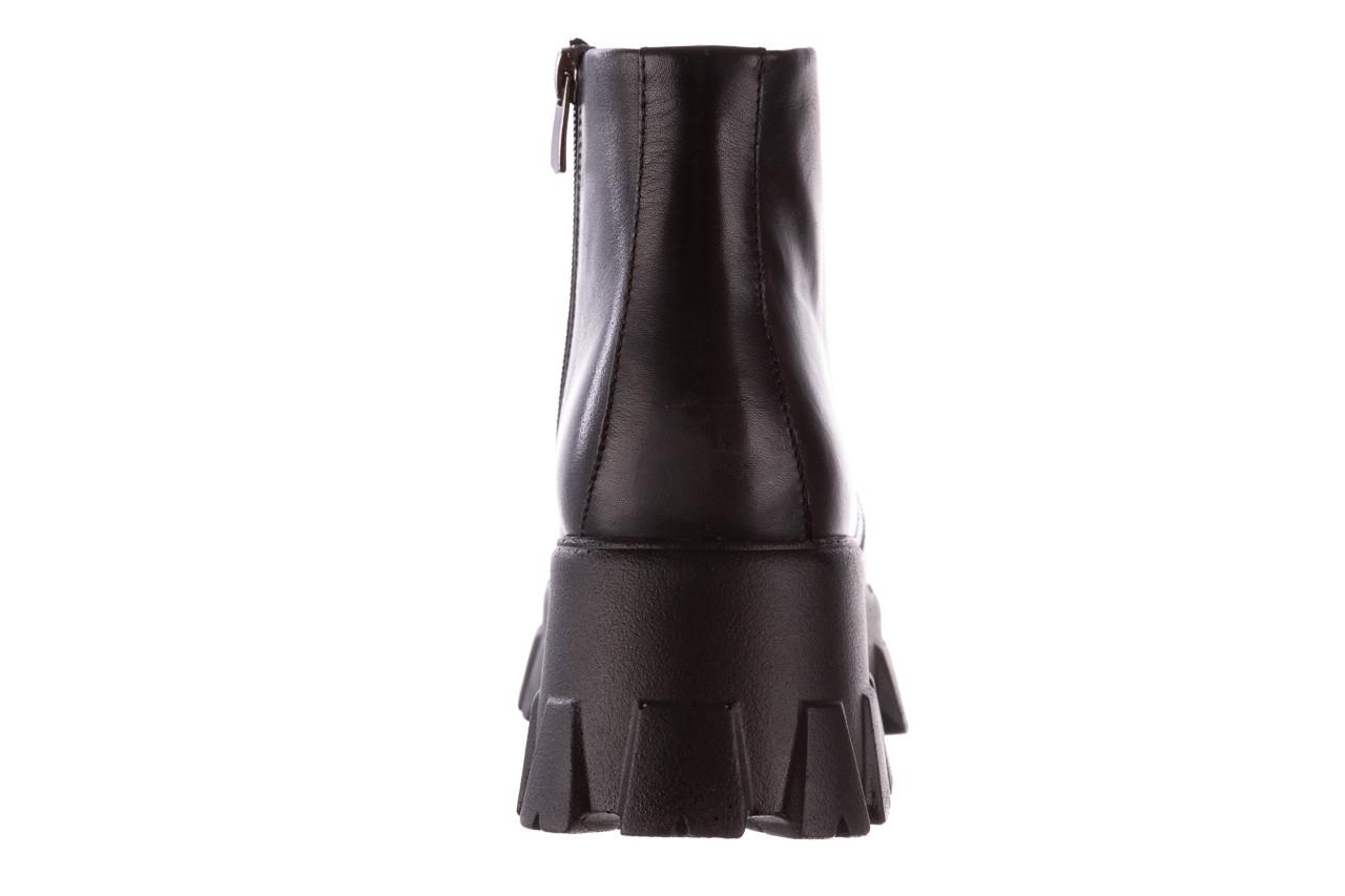 Botki bayla-196 20ef126-02 d44 196018, czarny, skóra naturalna  - botki - buty damskie - kobieta 20