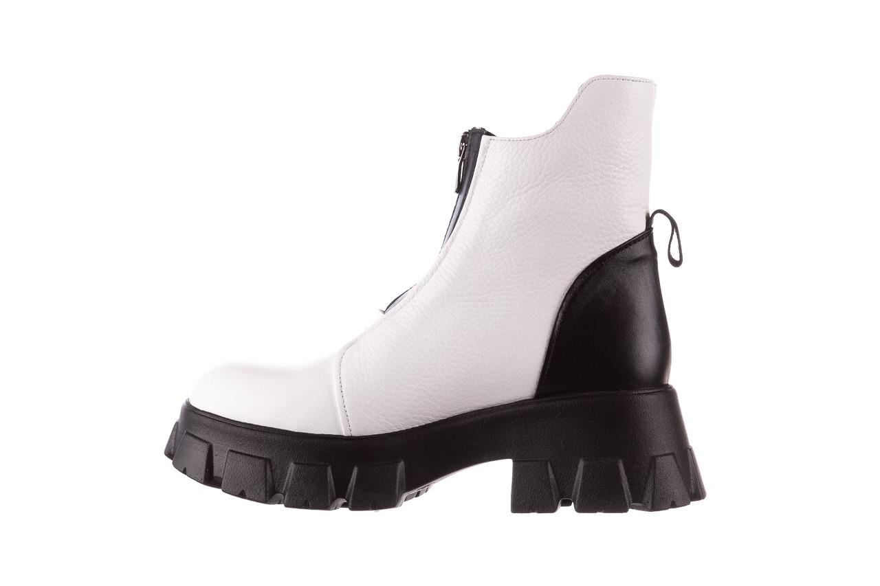 Botki bayla-196 15038-04 beyaz floter - d44 196009, biały, skóra naturalna  - skórzane - botki - buty damskie - kobieta 15