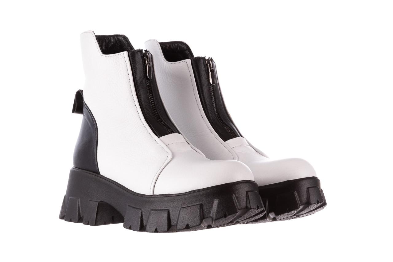 Botki bayla-196 15038-04 beyaz floter - d44 196009, biały, skóra naturalna  - skórzane - botki - buty damskie - kobieta 13