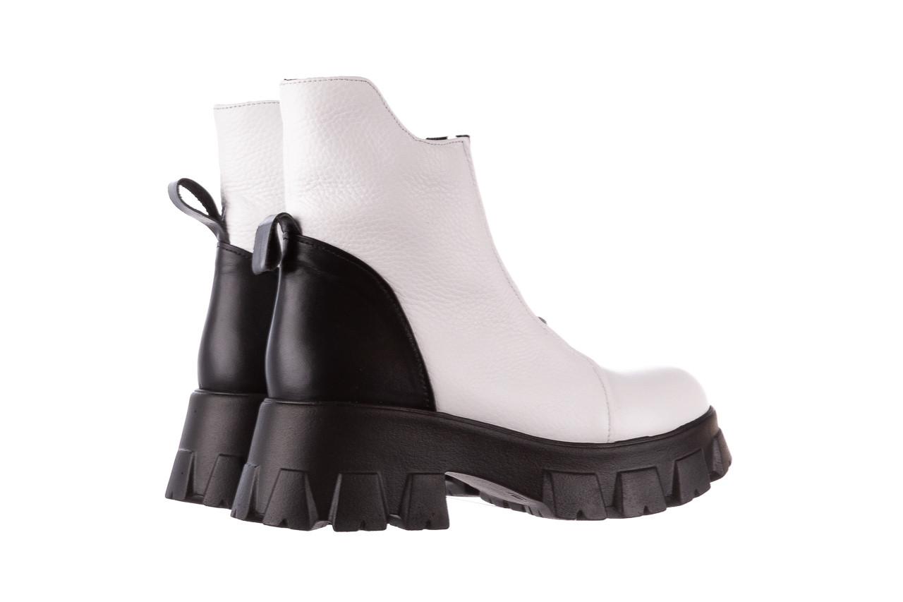 Botki bayla-196 15038-04 beyaz floter - d44 196009, biały, skóra naturalna  - skórzane - botki - buty damskie - kobieta 16