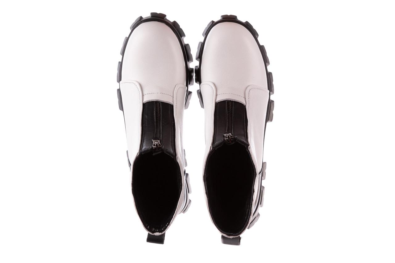Botki bayla-196 15038-04 beyaz floter - d44 196009, biały, skóra naturalna  - skórzane - botki - buty damskie - kobieta 17
