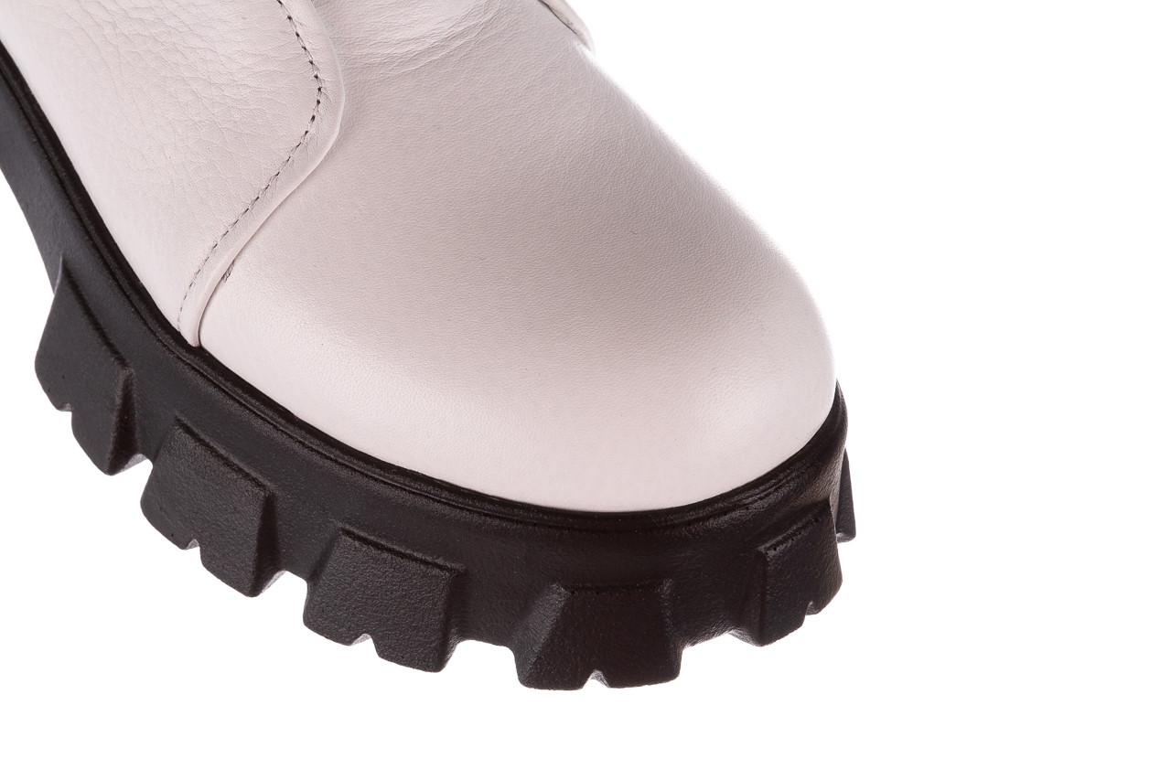 Botki bayla-196 15038-04 beyaz floter - d44 196009, biały, skóra naturalna  - skórzane - botki - buty damskie - kobieta 18