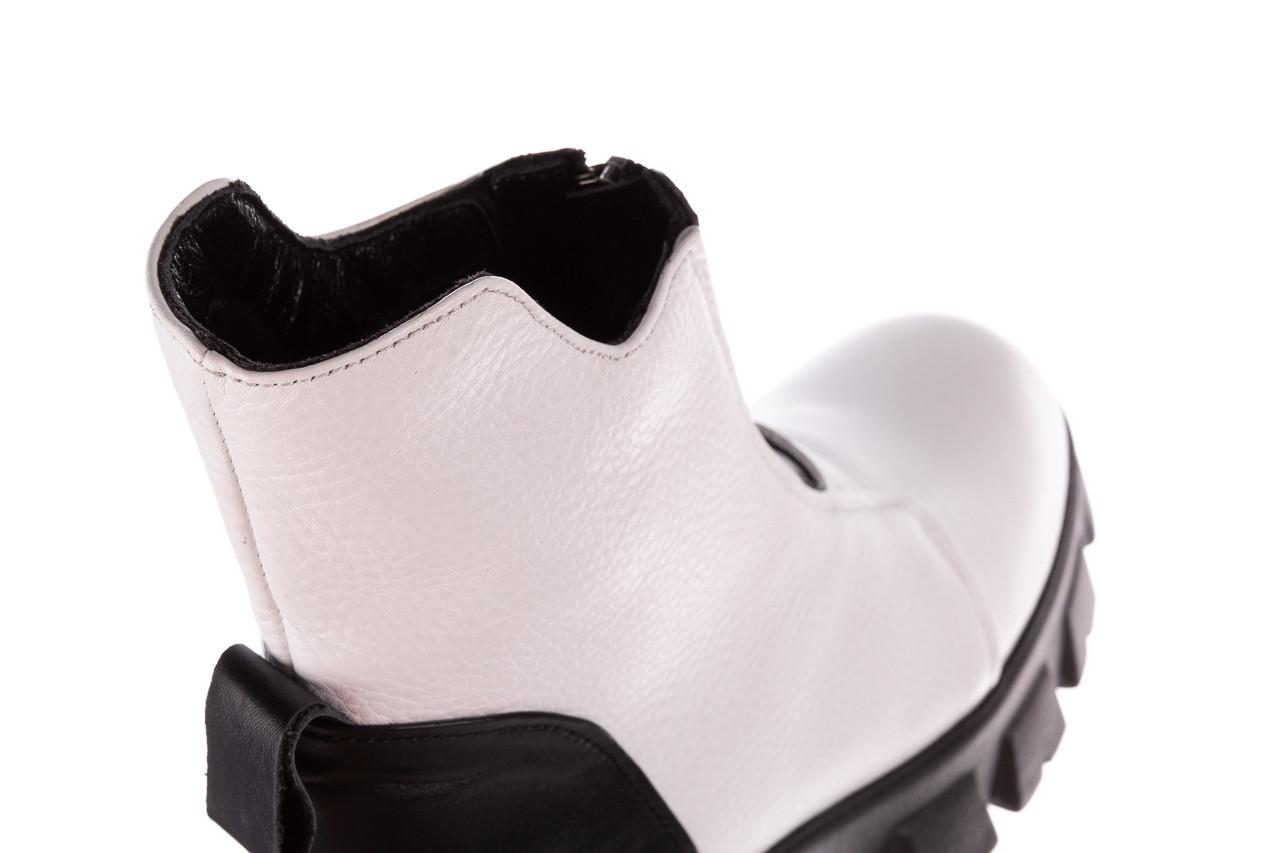Botki bayla-196 15038-04 beyaz floter - d44 196009, biały, skóra naturalna  - skórzane - botki - buty damskie - kobieta 21