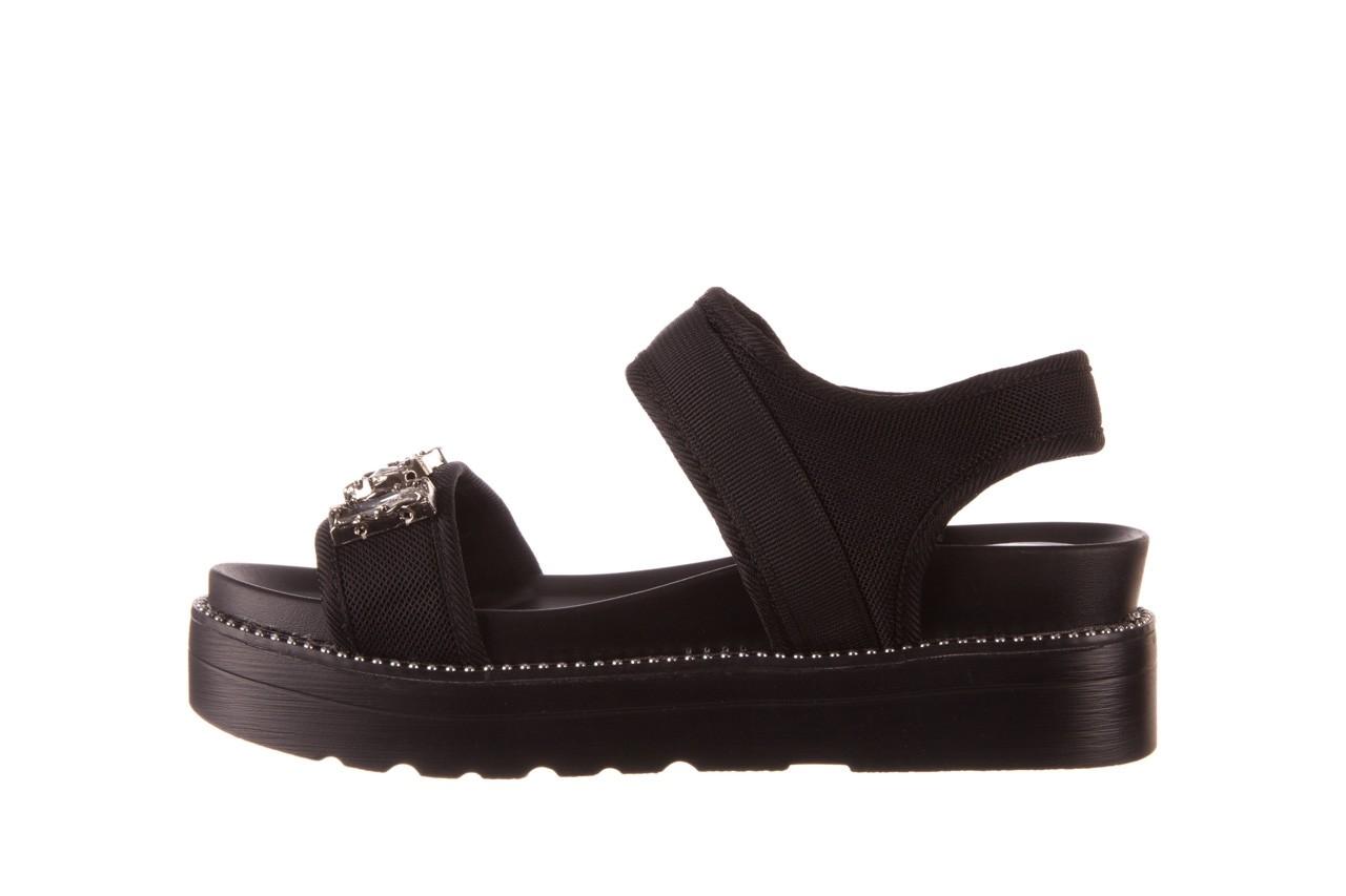 Sandały sca'viola l-13 black, czarny, materiał - mega okazje - ostatnie rozmiary 10