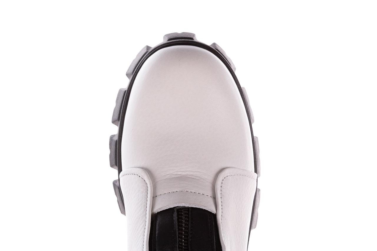 Botki bayla-196 15038-04 beyaz floter - d44 196009, biały, skóra naturalna  - skórzane - botki - buty damskie - kobieta 19