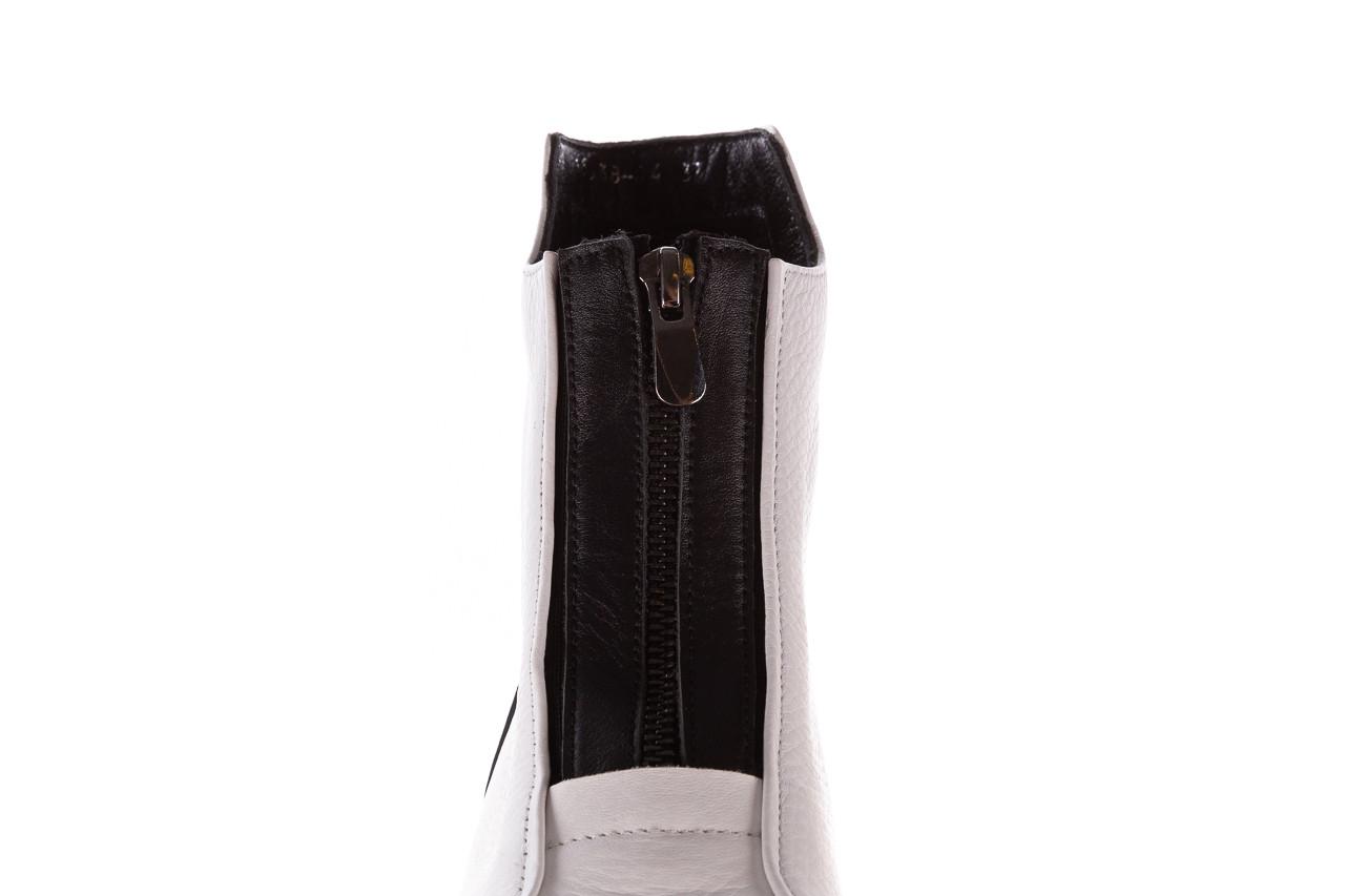 Botki bayla-196 15038-04 beyaz floter - d44 196009, biały, skóra naturalna  - skórzane - botki - buty damskie - kobieta 20
