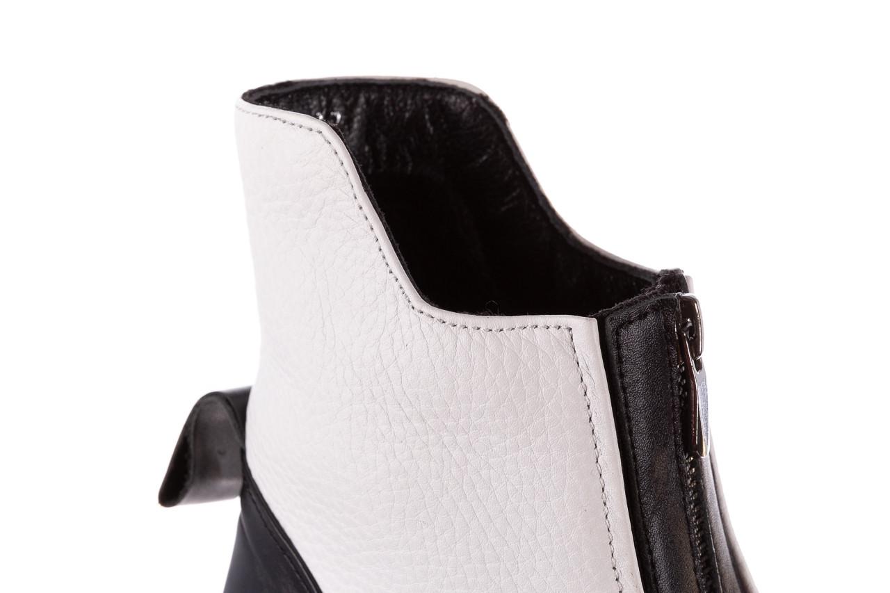 Botki bayla-196 15038-04 beyaz floter - d44 196009, biały, skóra naturalna  - skórzane - botki - buty damskie - kobieta 23