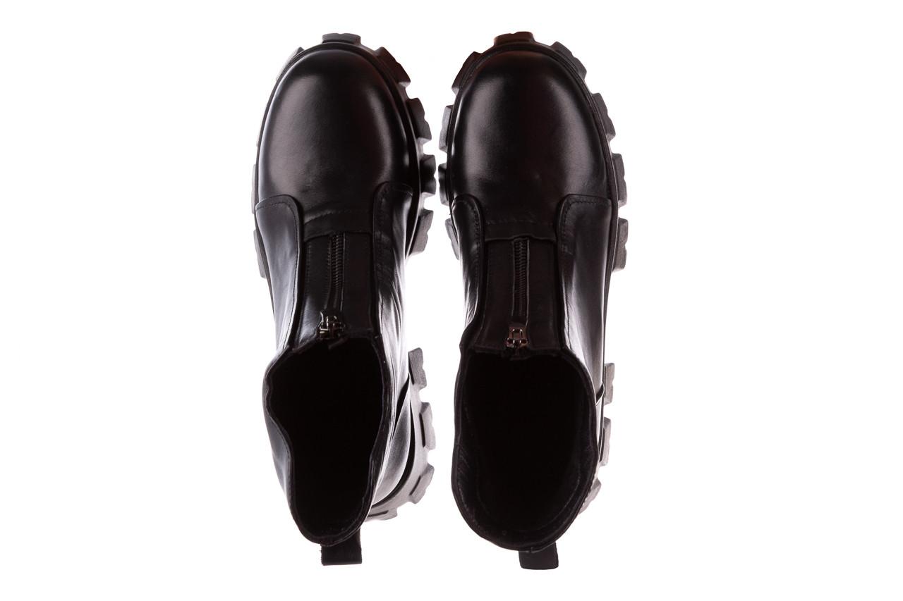 Botki bayla-196 15038-04 d44 196010, czarny, skóra naturalna 16