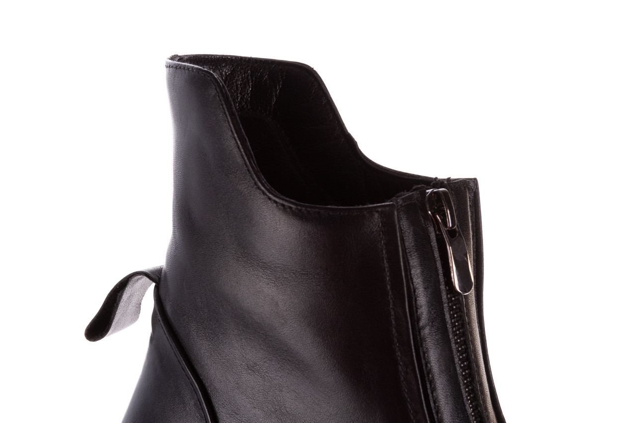 Botki bayla-196 15038-04 d44 196010, czarny, skóra naturalna 21