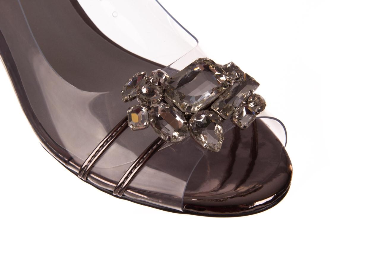 Sandały sca'viola g-25 pewter 21 047172, srebro, silikon - trendy - kobieta 17
