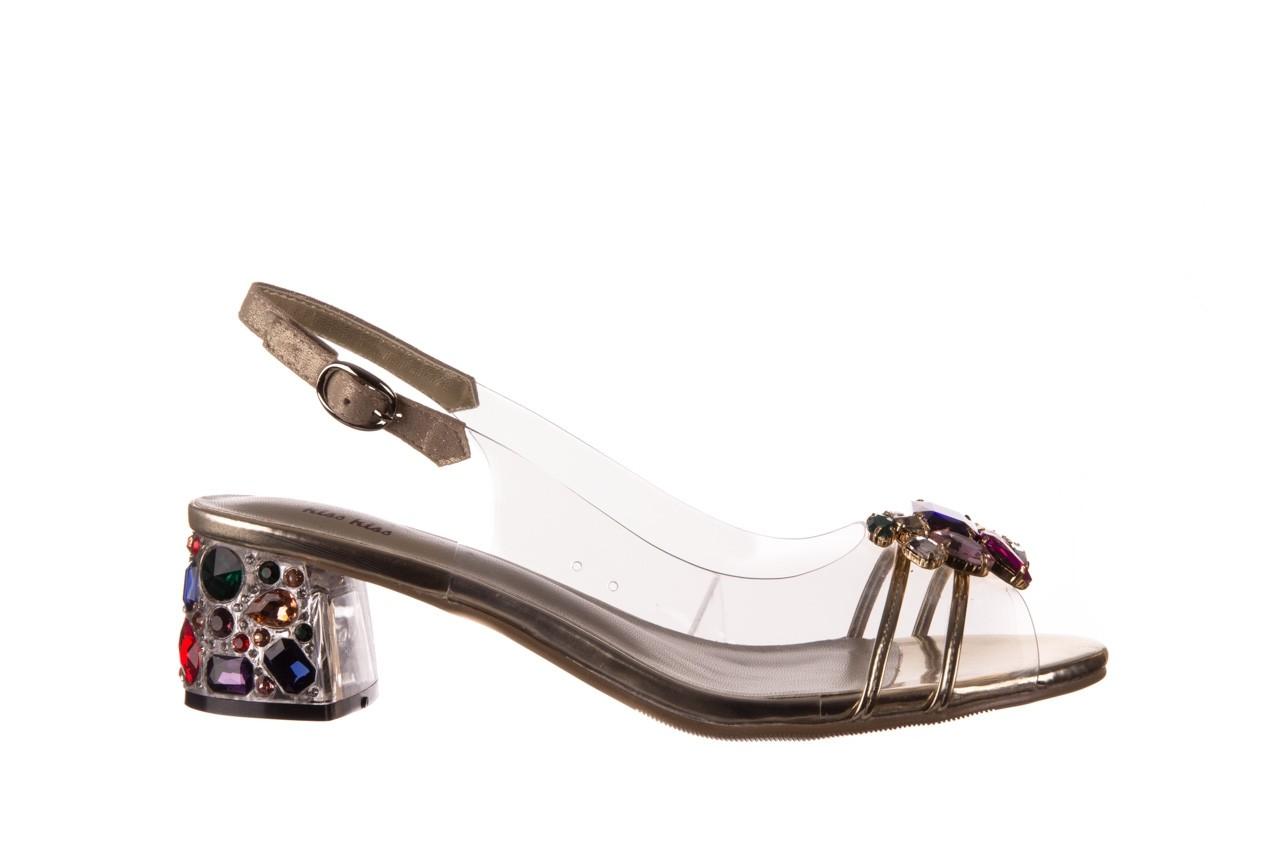Sandały sca'viola g-25 gold, złoty, silikon  - kobieta 8
