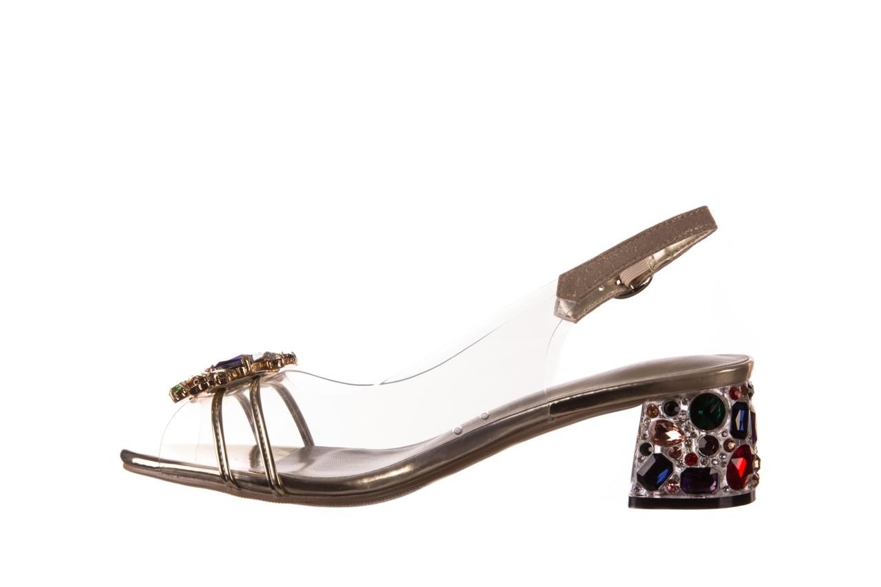 Sandały sca'viola g-25 gold, złoty, silikon  - kobieta 10
