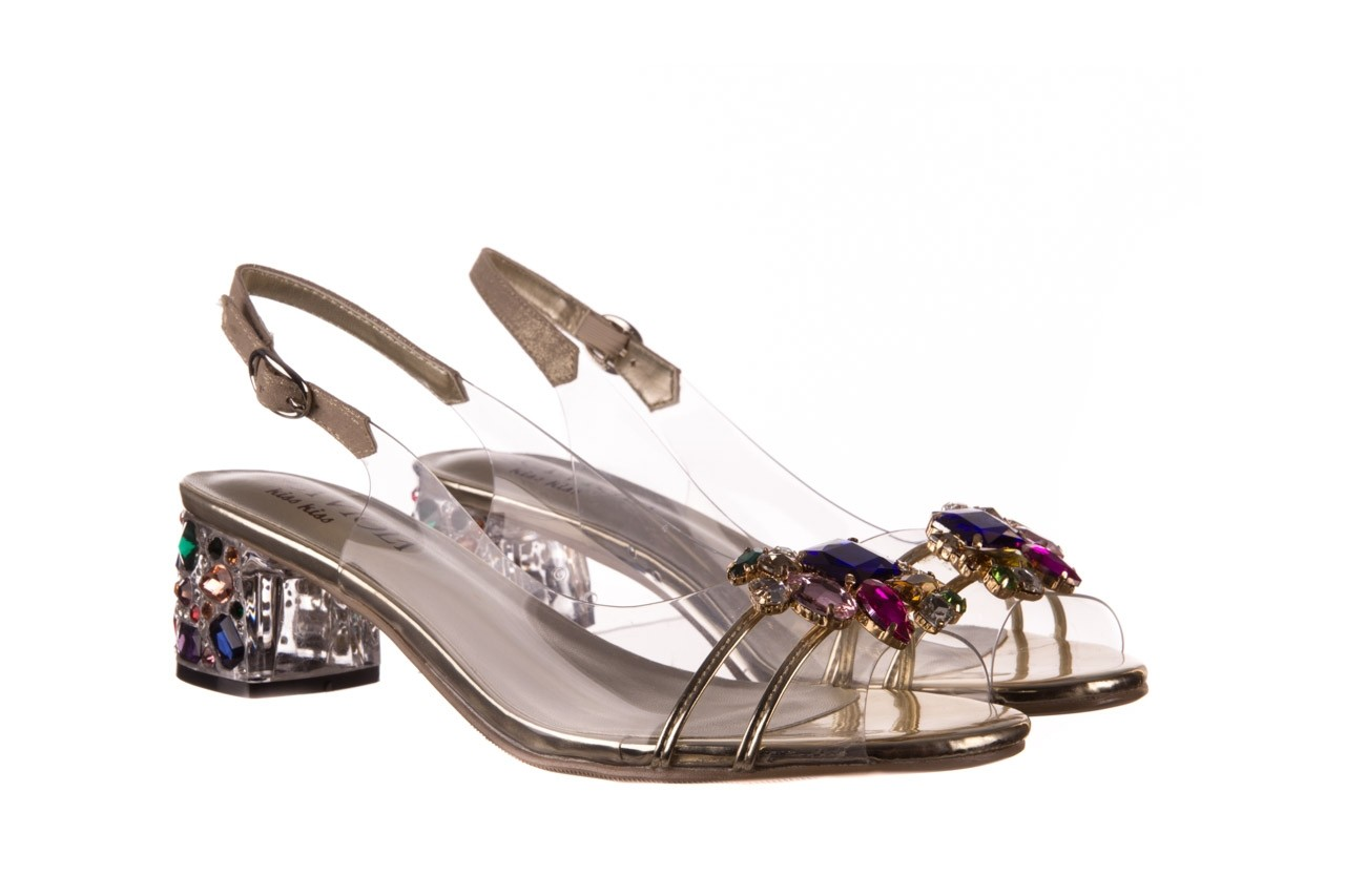 Sandały sca'viola g-25 gold, złoty, silikon  - kobieta 9