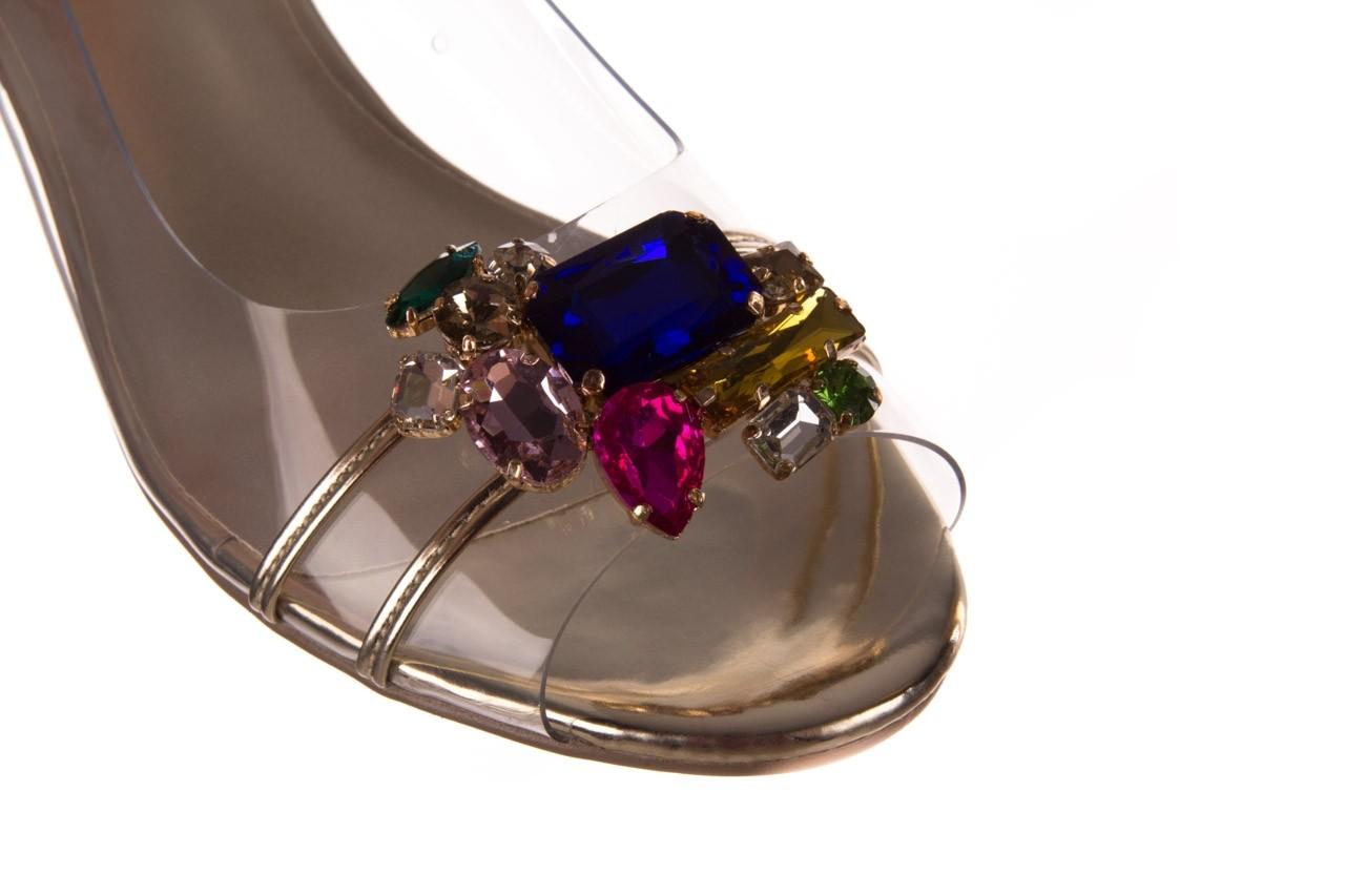 Sandały sca'viola g-25 gold, złoty, silikon  - kobieta 13