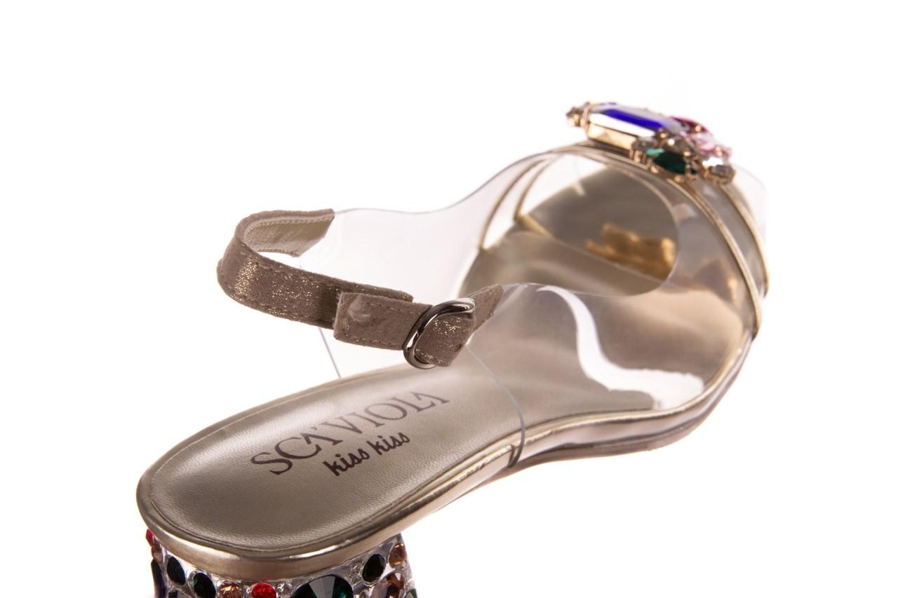 Sandały sca'viola g-25 gold, złoty, silikon  - kobieta 14