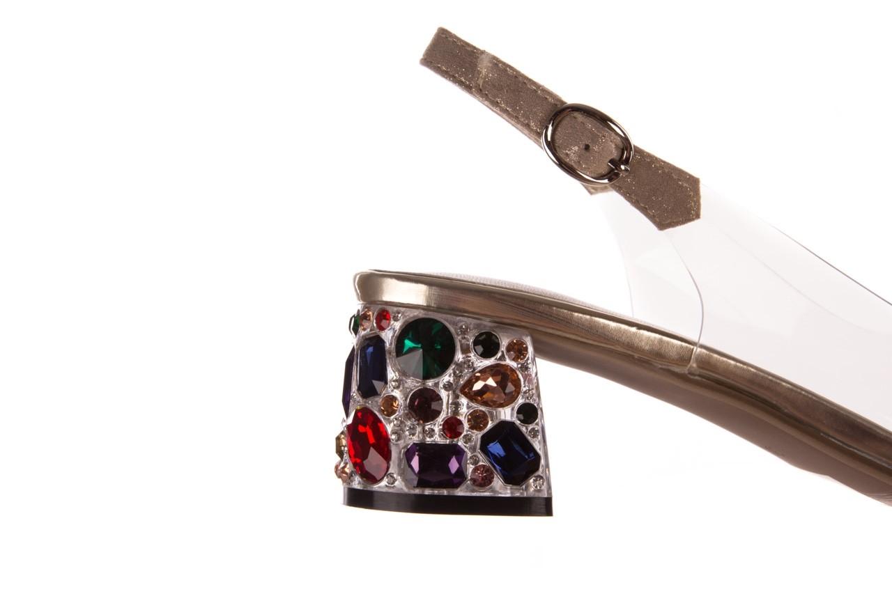 Sandały sca'viola g-25 gold, złoty, silikon  - kobieta 15