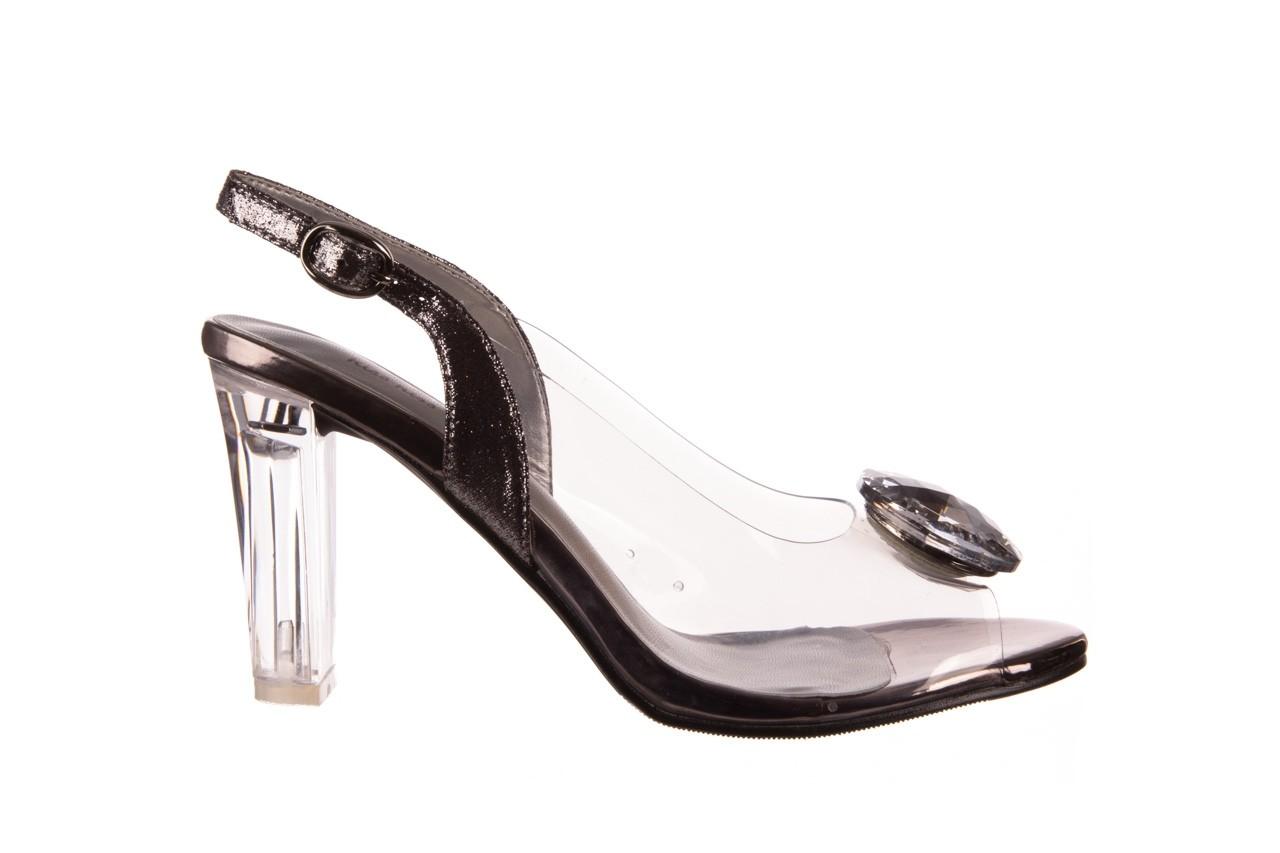 Sandały sca'viola g-17 silver, srebrny, silikon - na obcasie - sandały - buty damskie - kobieta 7
