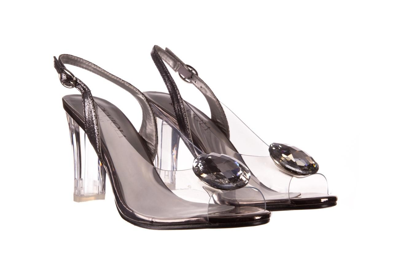 Sandały sca'viola g-17 silver, srebrny, silikon - na obcasie - sandały - buty damskie - kobieta 8
