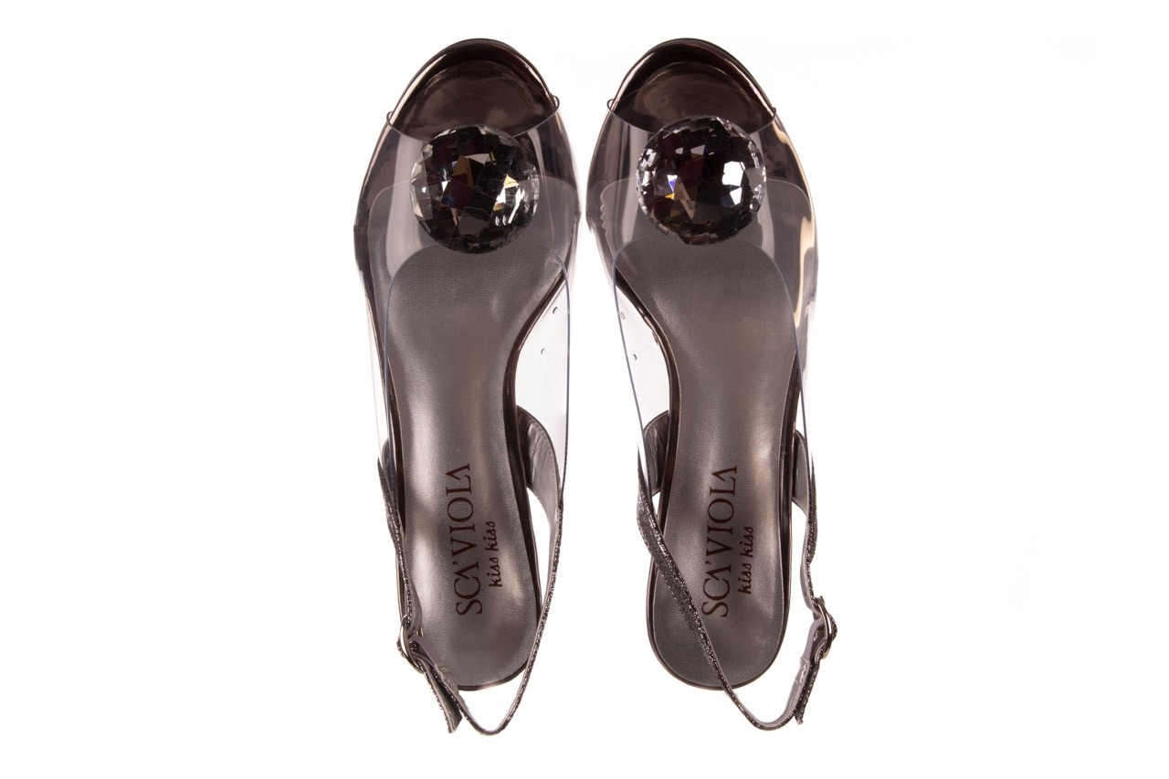 Sandały sca'viola g-17 silver, srebrny, silikon - na obcasie - sandały - buty damskie - kobieta 11