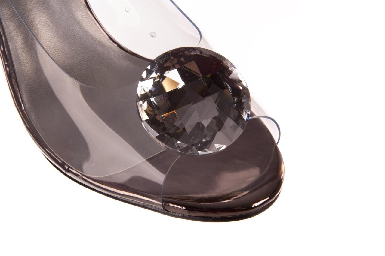 Sandały sca'viola g-17 silver, srebrny, silikon - na obcasie - sandały - buty damskie - kobieta 13