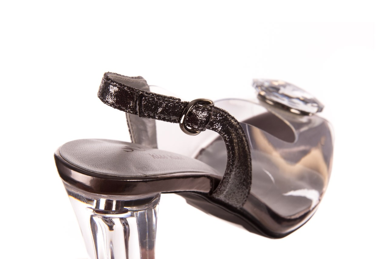 Sandały sca'viola g-17 silver, srebrny, silikon - na obcasie - sandały - buty damskie - kobieta 12